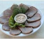 Изображение Язык отварной с хреном (Boiled beef tongue with horseradish)
