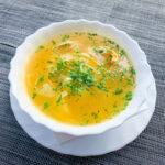 Изображение Суп куриный с домашней лапшой